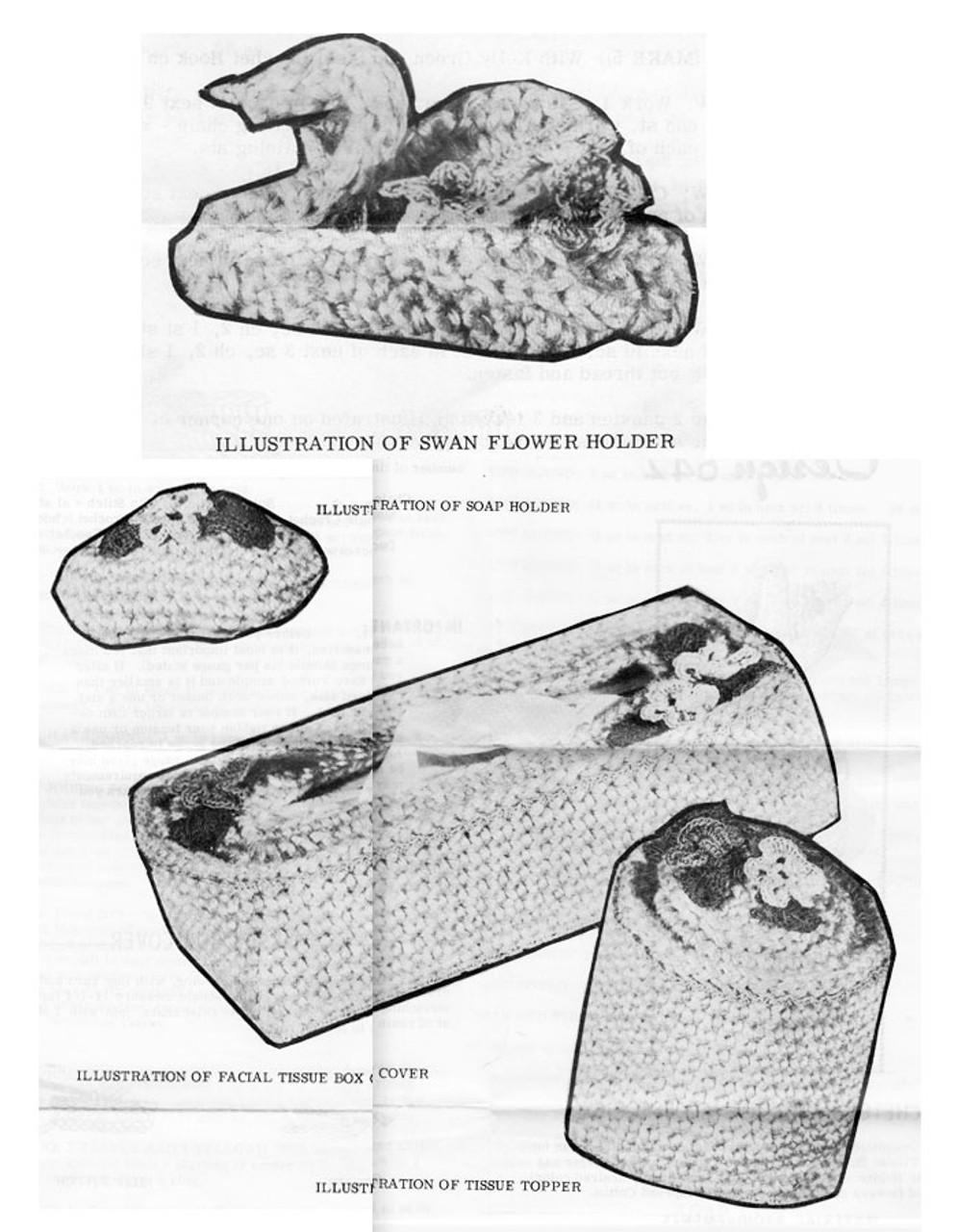 Crochet Tissue Topper Pattern Illustration, Laura Wheeler 642