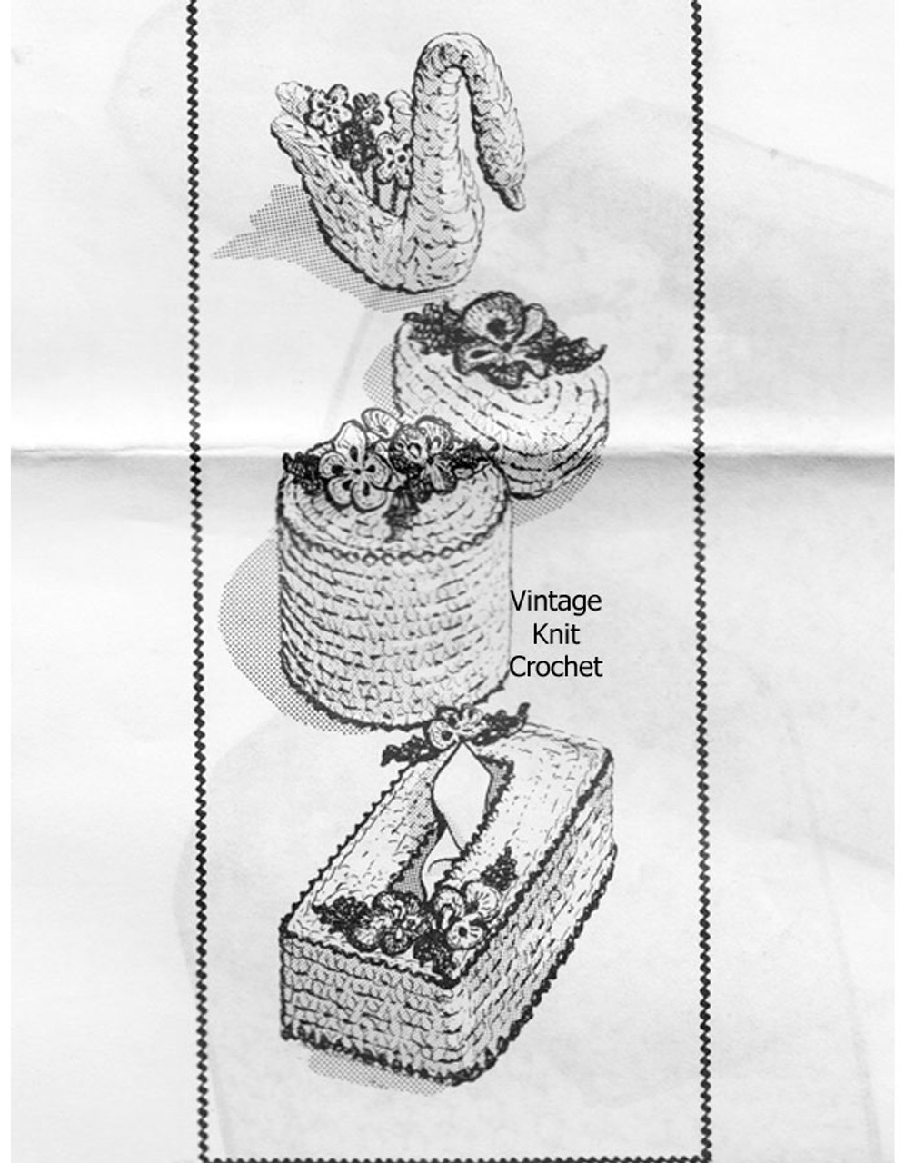 Vintage Bathroom Accessories Crochet Pattern, Laura Wheeler 642