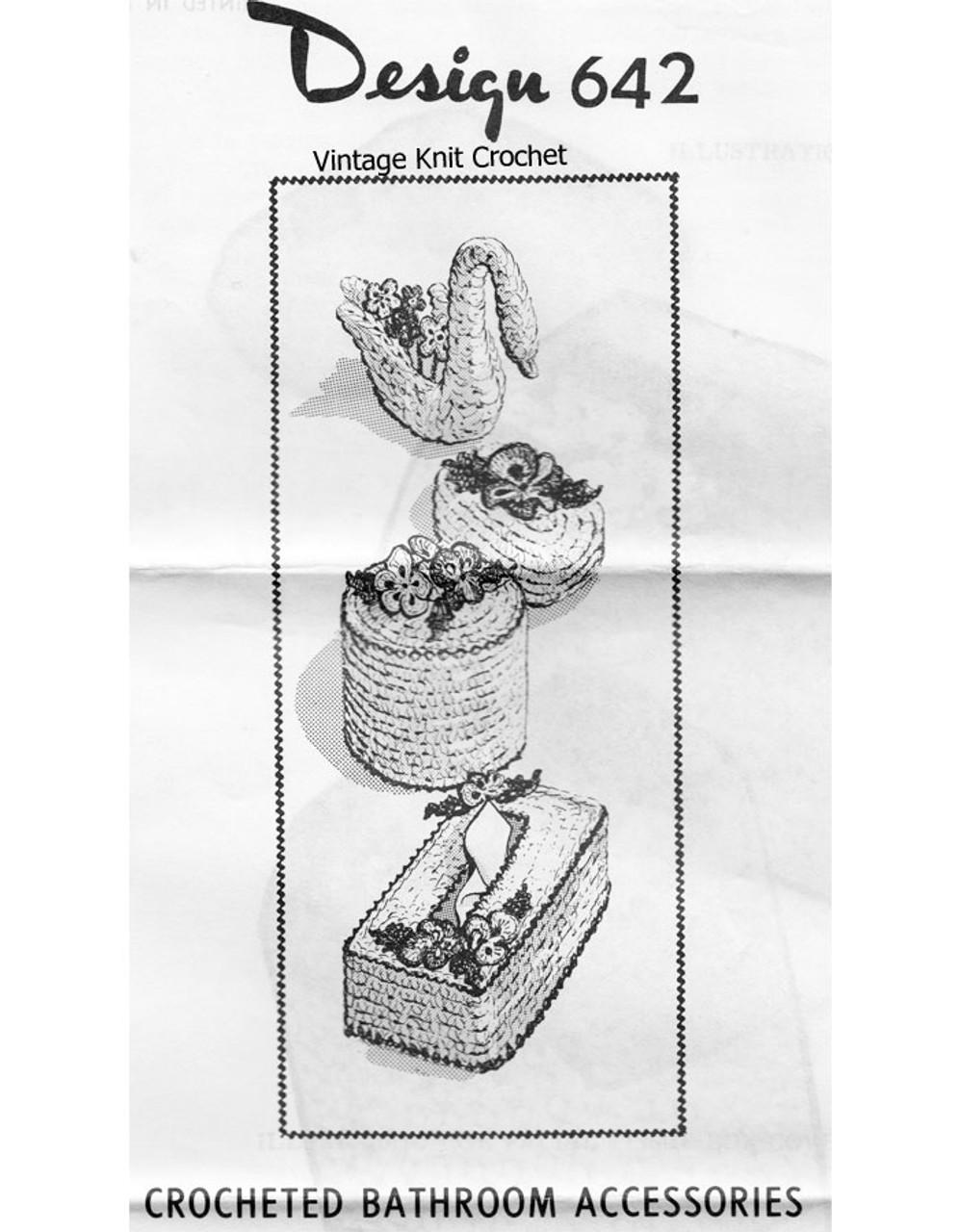 Crochet Tissue Soap Cover Pattern, Design 642