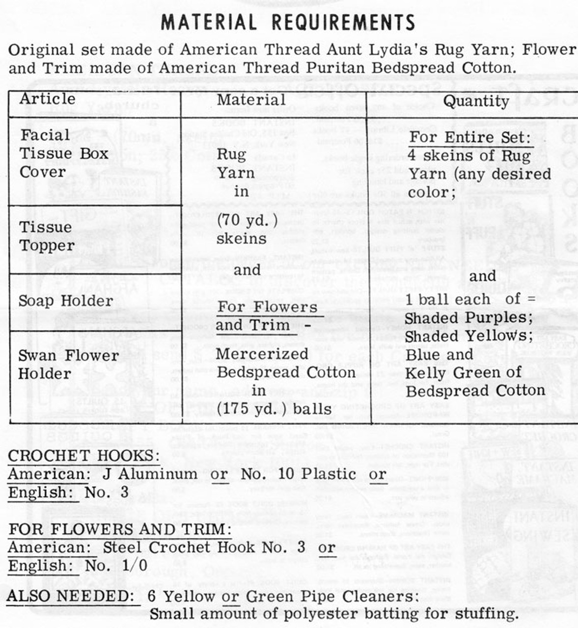 Crochet Bathroom Accessories Design 642