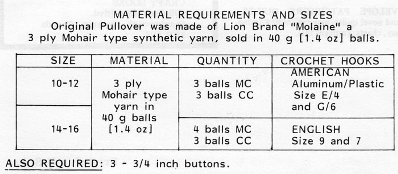 Crochet Pullover Top Pattern, Design 783