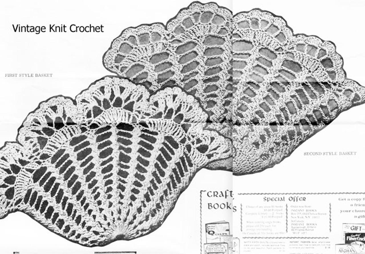 Two Crochet Baskets Pattern Illustration, Design 619