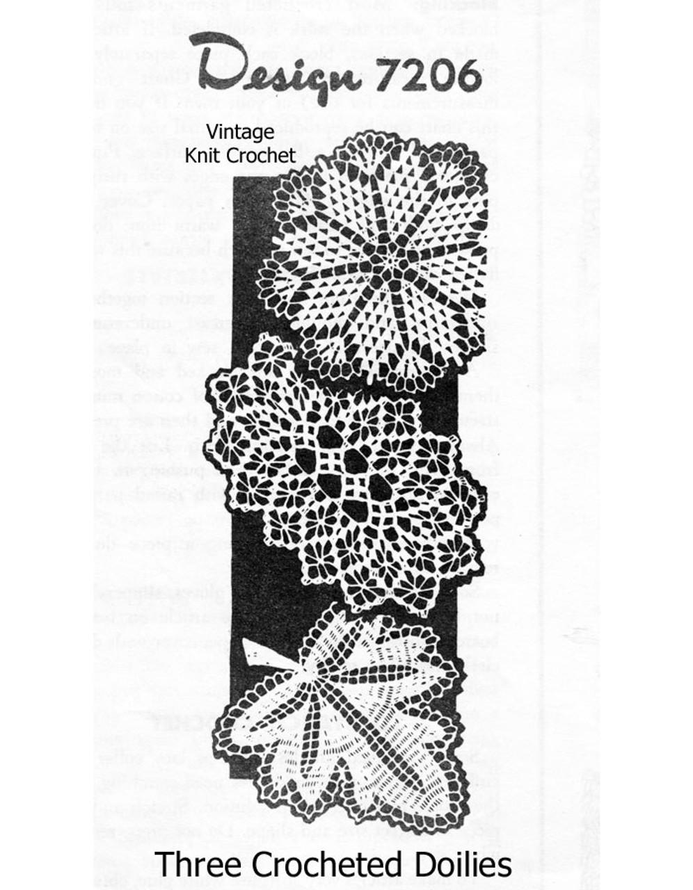 Crochet Flower Spiderweb Leaf Doilies Pattern Design 7206