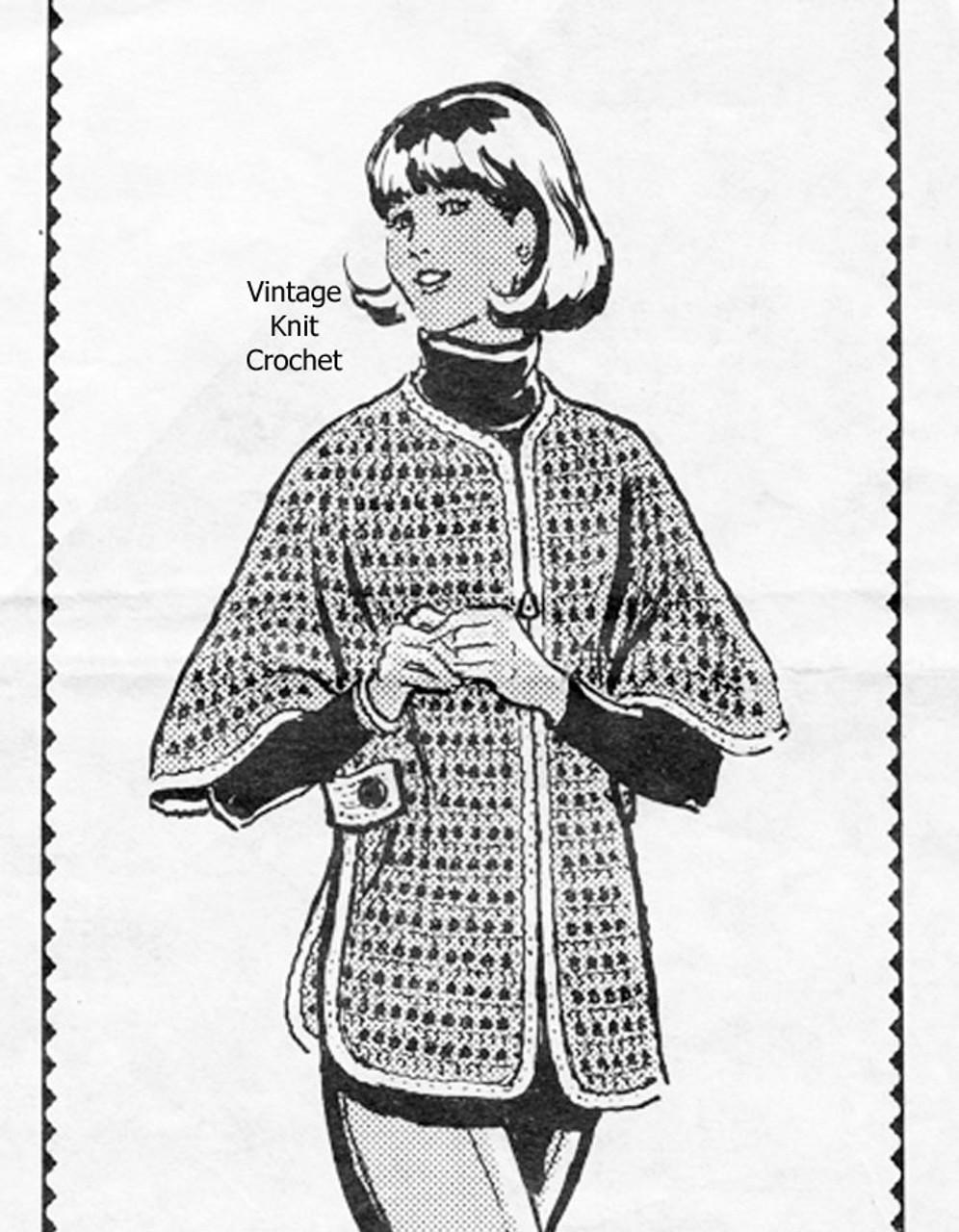 Alice Brooks crochet Poncho Pattern No 7060