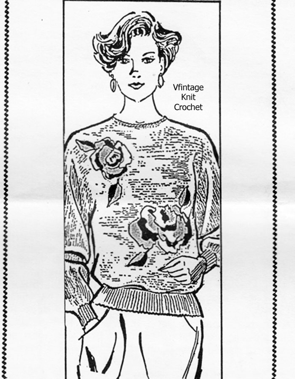 Large Crochet Pullover Sweater Pattern Design 7175