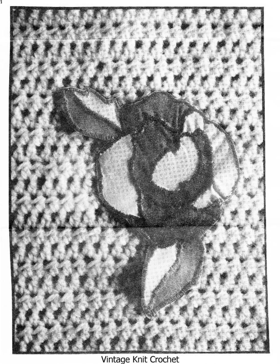 Rose Applique on Crochet Pullover Illustration, Alice Brooks 7175