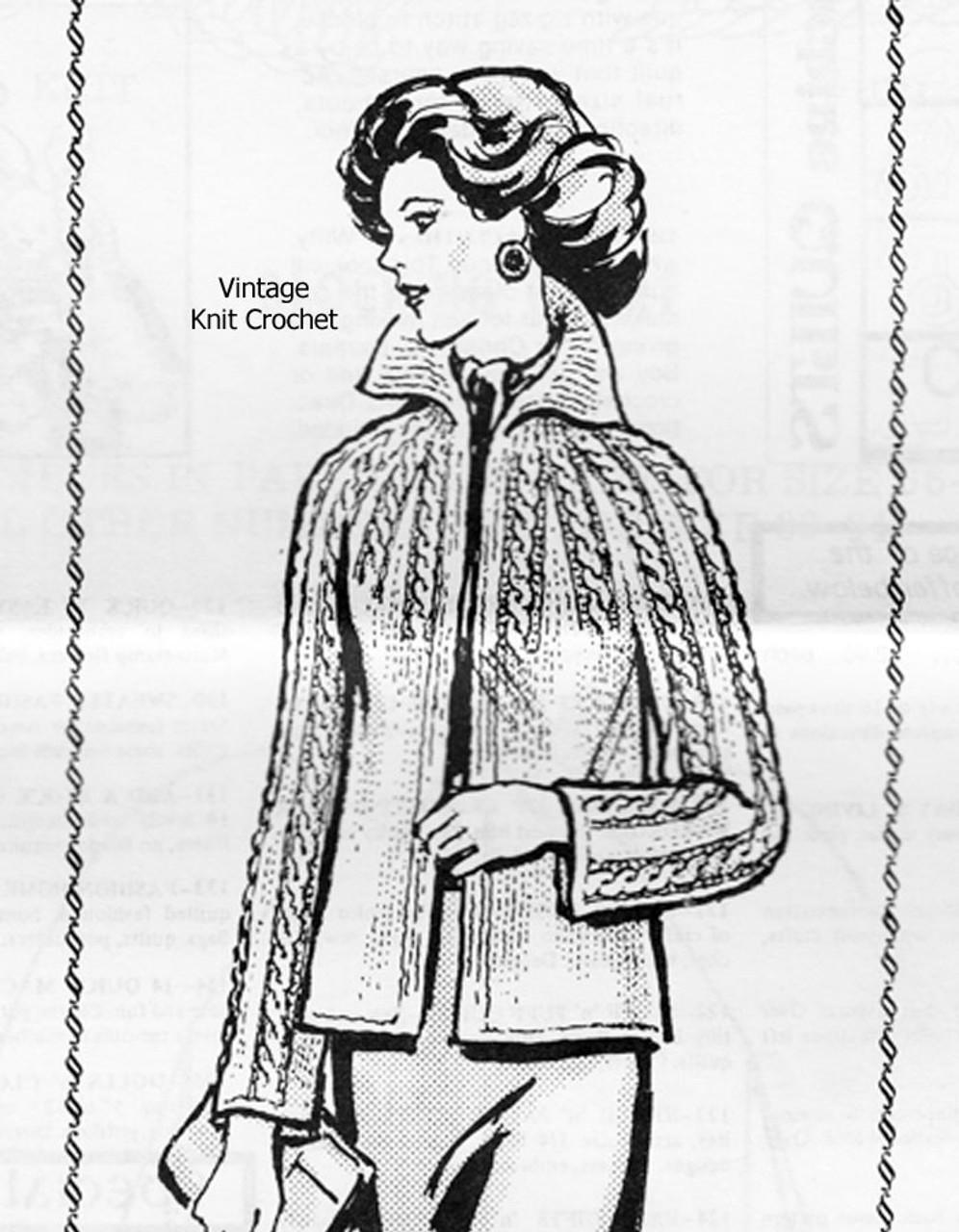 Alice Brooks Knitted Sweater Jacket Pattern Design 7127