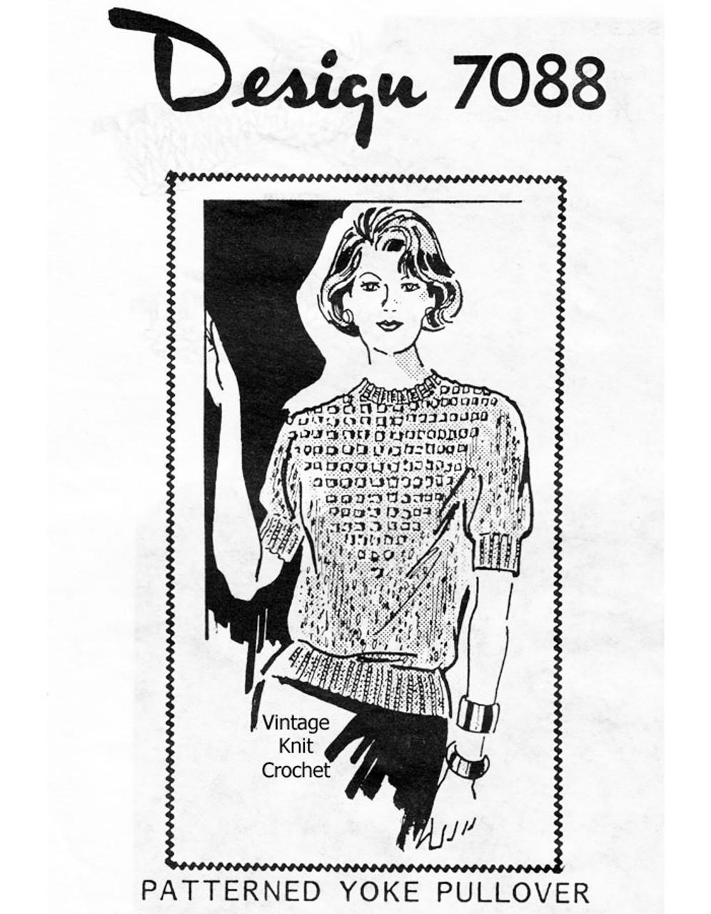 Diamond Knit Pullover Pattern Design 7088
