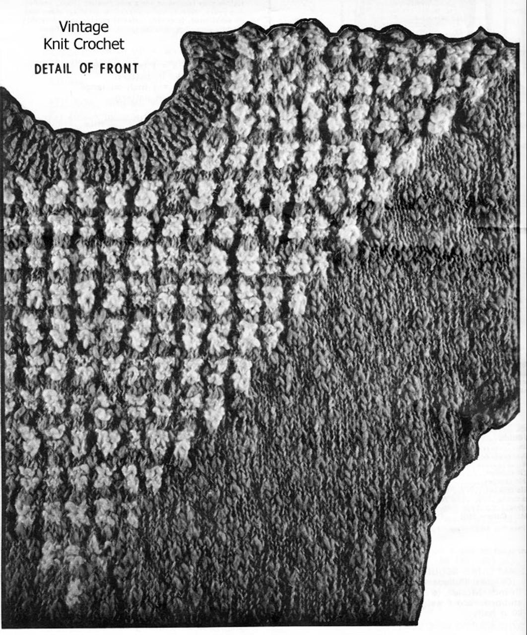 Short Sleeve Pullover Knitting Illustration, Alice Brooks 7088