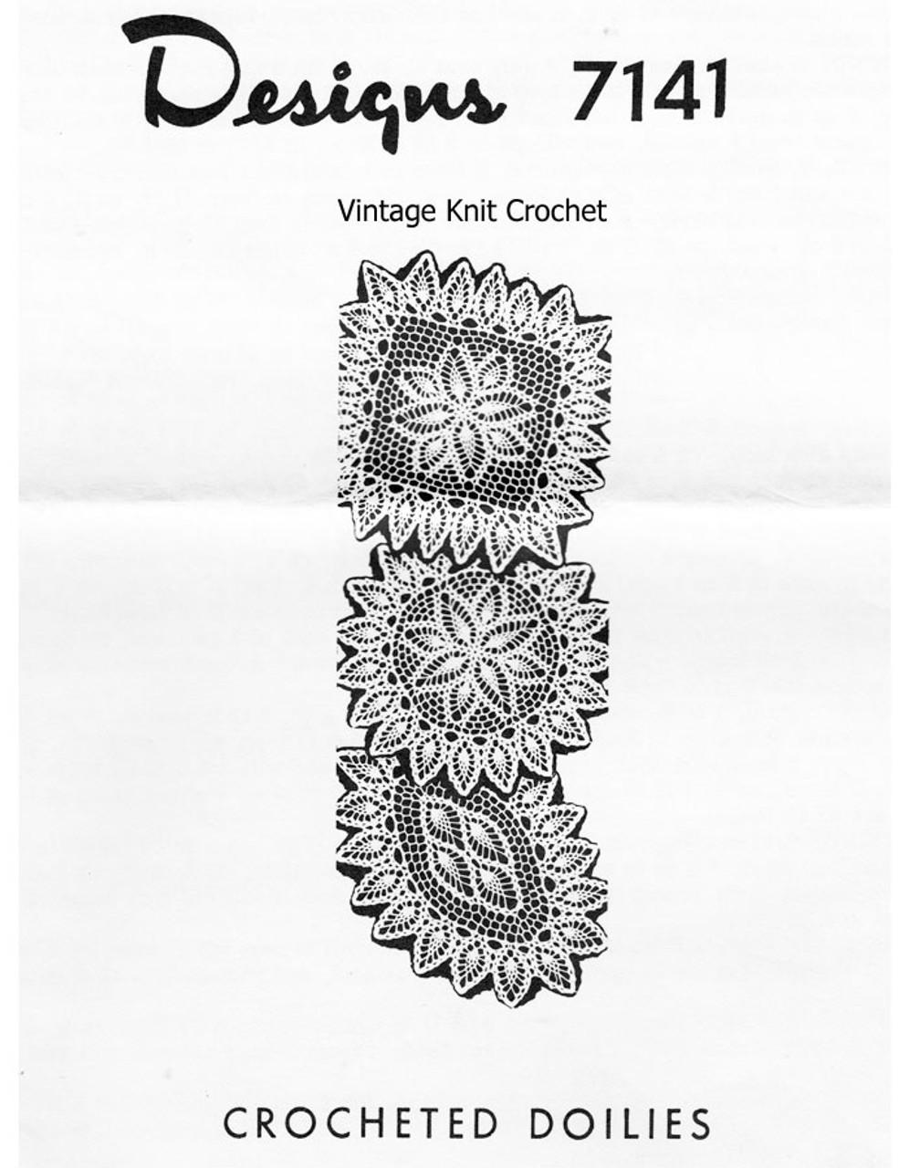 Small Pineapple Doilies Crochet Pattern Design 7141