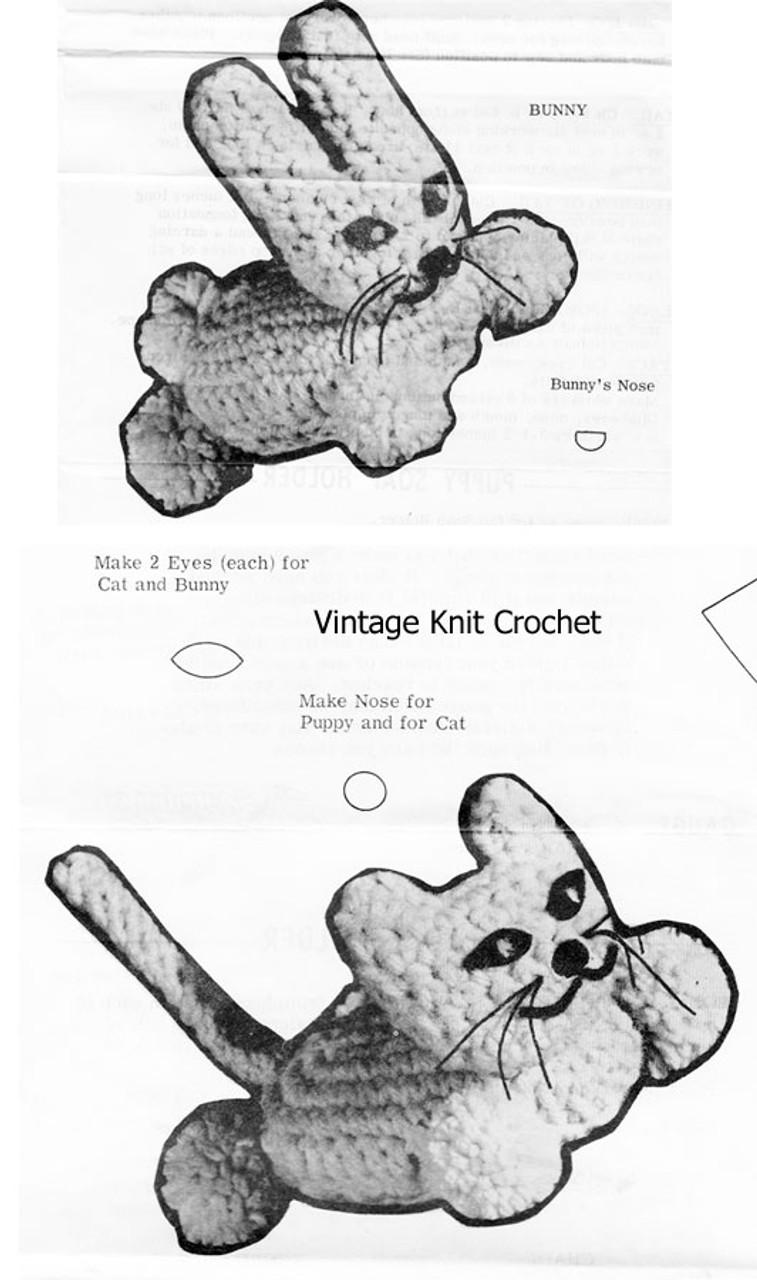 Crochet Bunny Cat Soap Holders Pattern Design 7284
