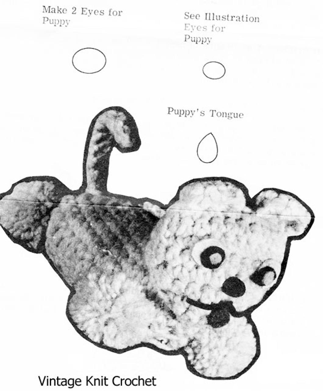 Crochet Puppy Soap Holder Pattern Design 7284