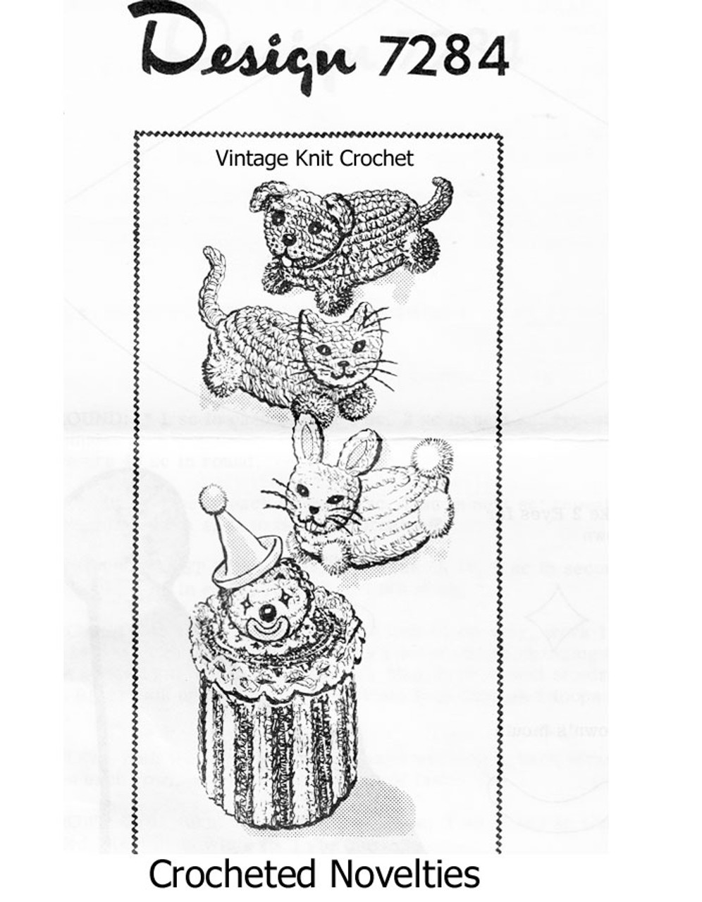 Crochet Clown Toilet Paper Cover Design 7284