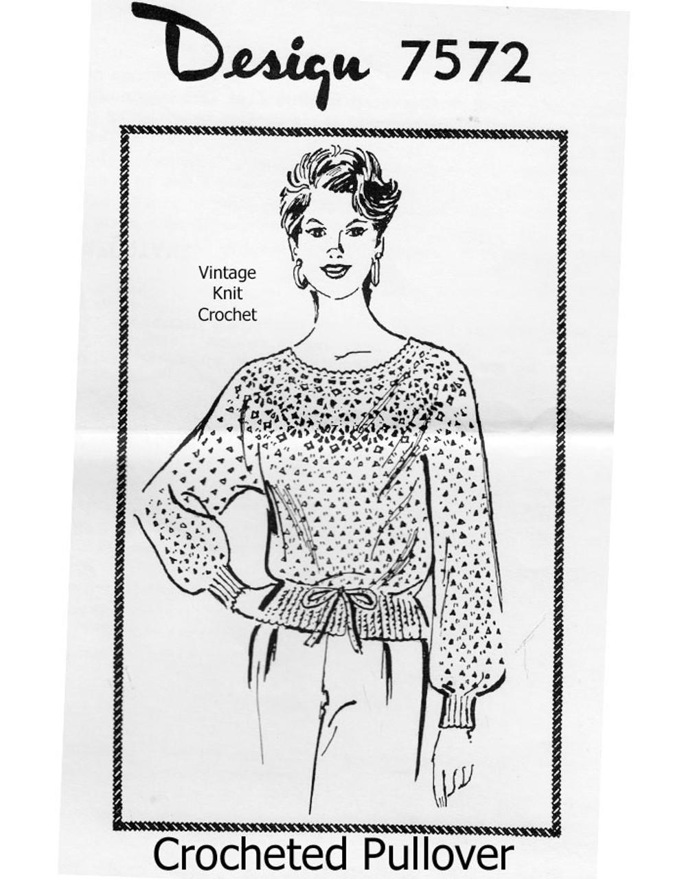 Crochet Drawstring Blouse Pattern Design 7572