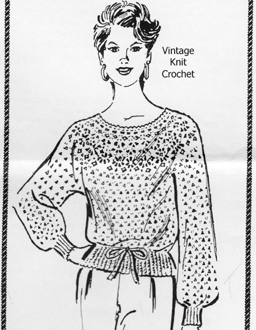 Design 7572, Crochet Lacy Blouse Pattern