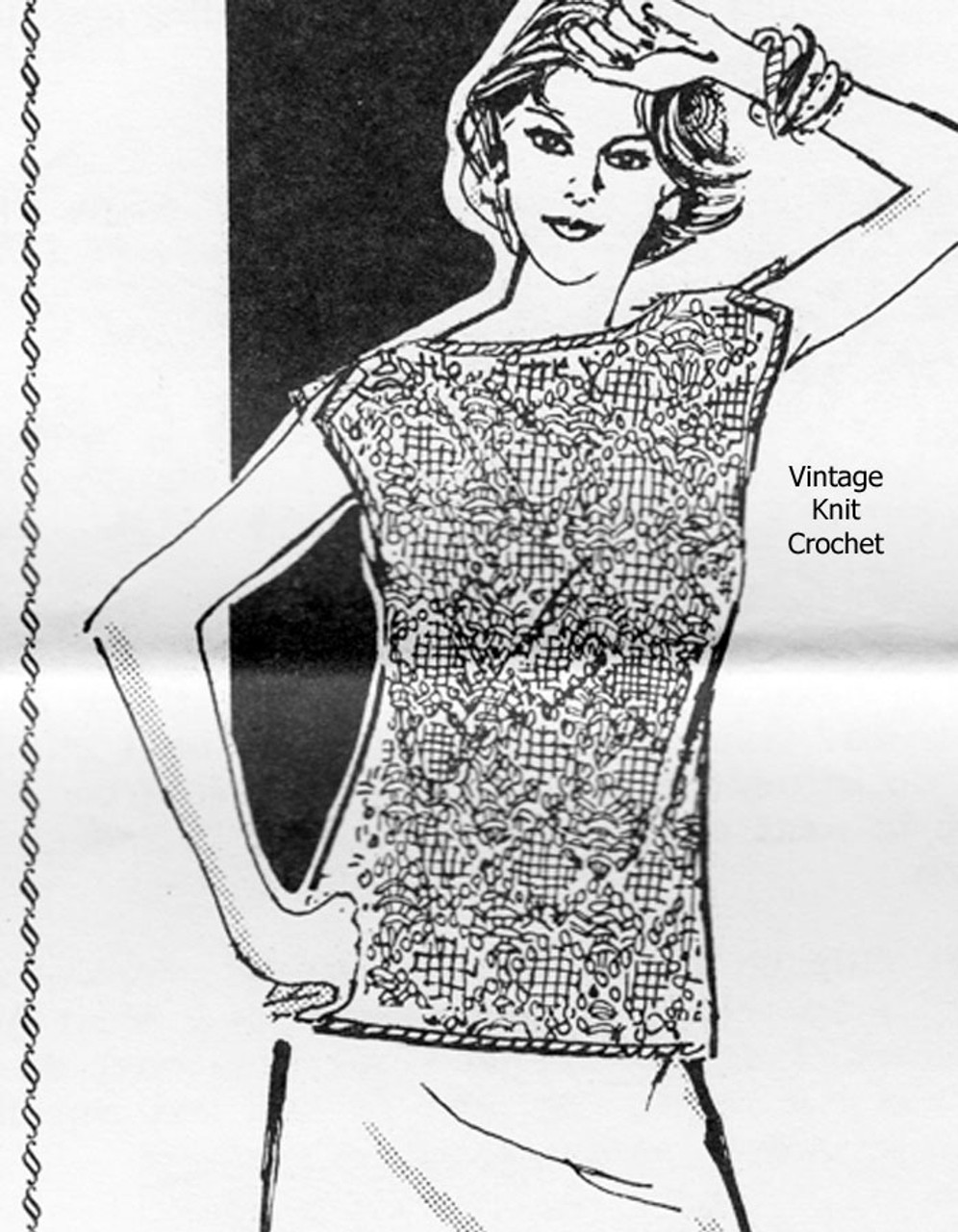 Sleeveless Top Crochet Pattern, Laura Wheeler 666