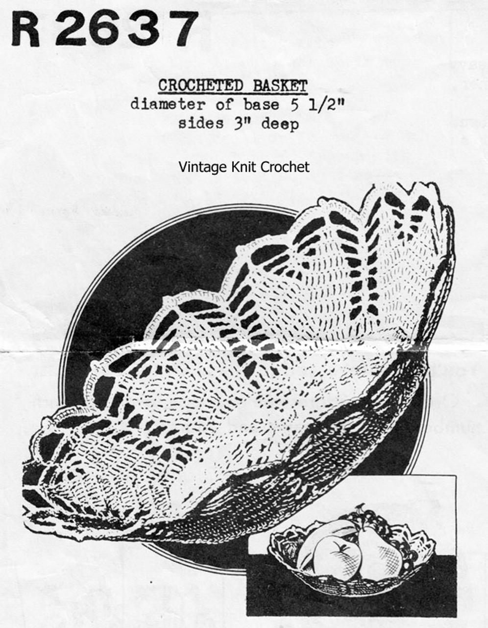 Easy Crochet Fruit Basket Pattern No R2637