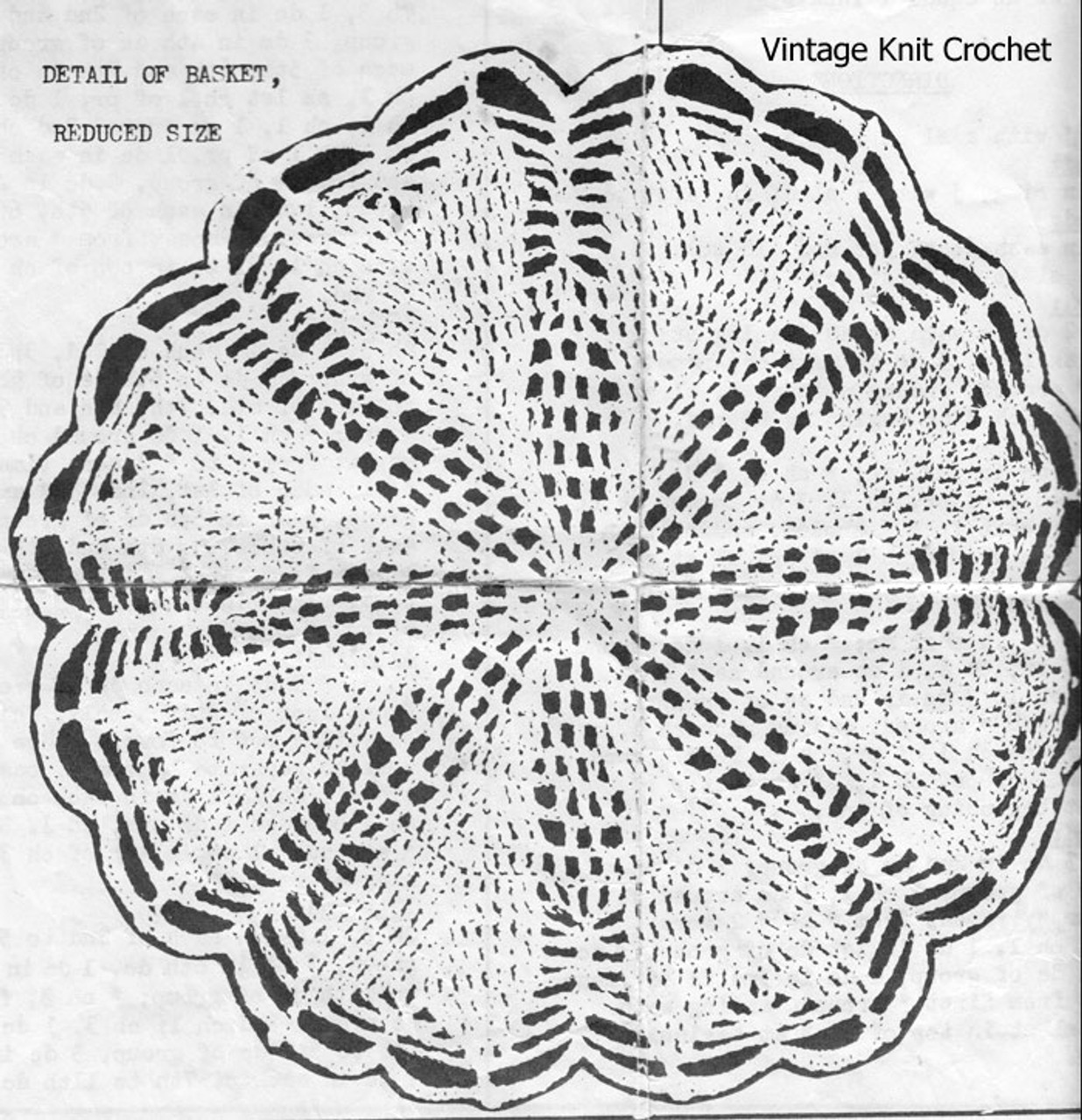 Crochet Basket Pattern Illustration, Anne Cabot 2637