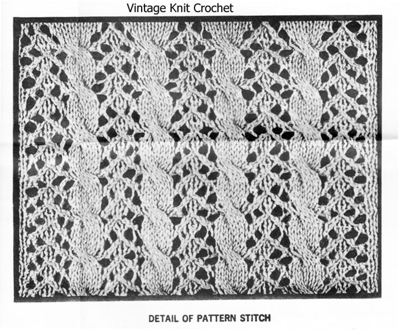 Cable Pattern Stitch Knitting Illustration