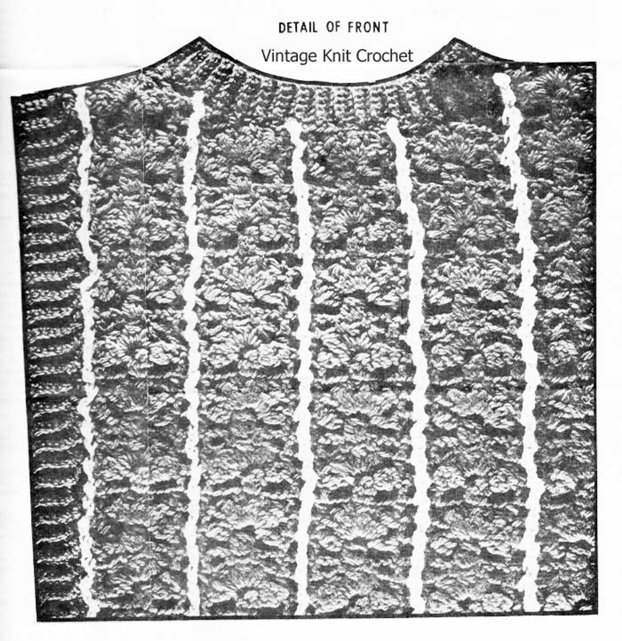 Popover Crochet pattern stitch illustration, Mail Order 678