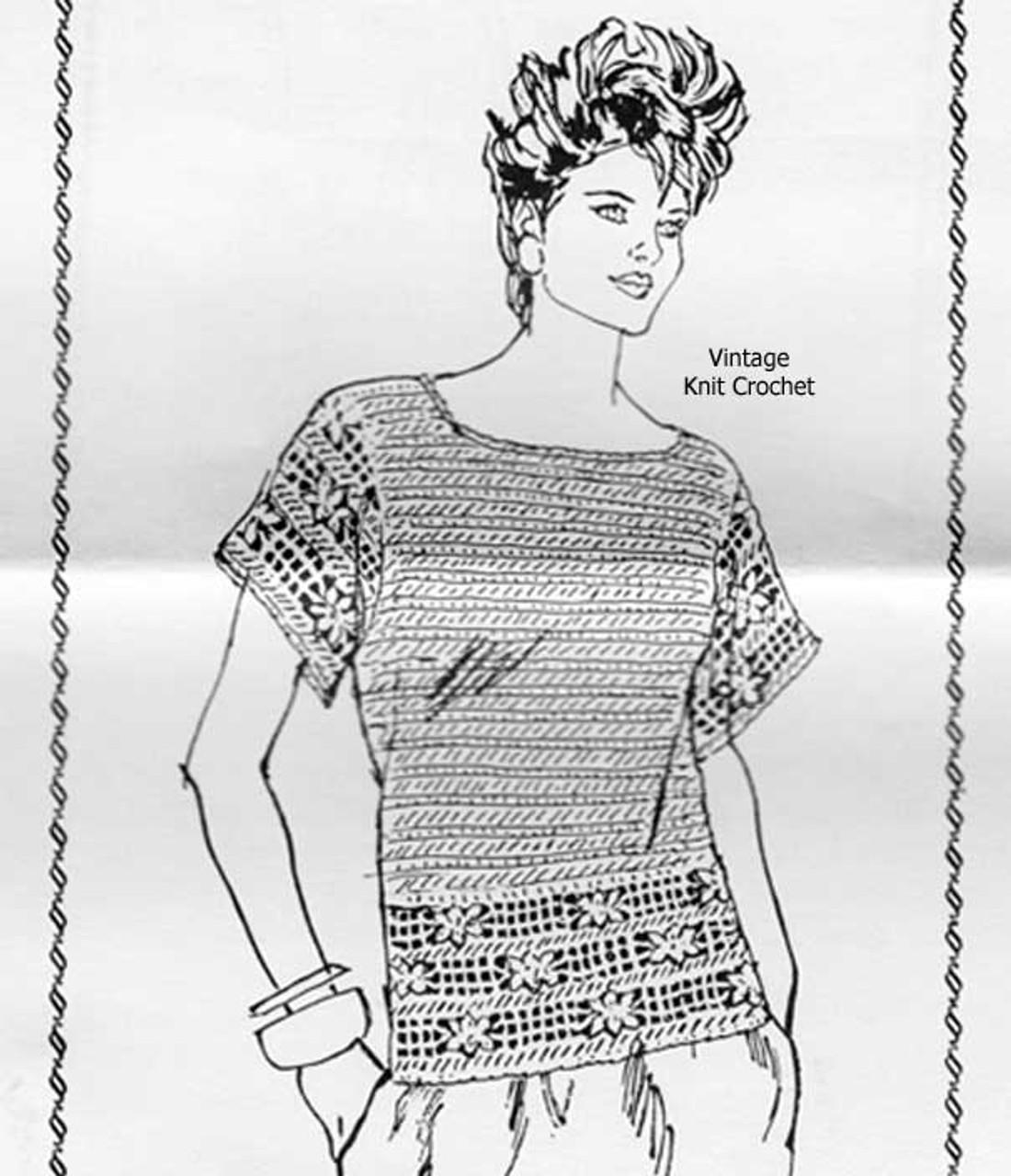 Mail Order Crochet Top Pattern Design 7023