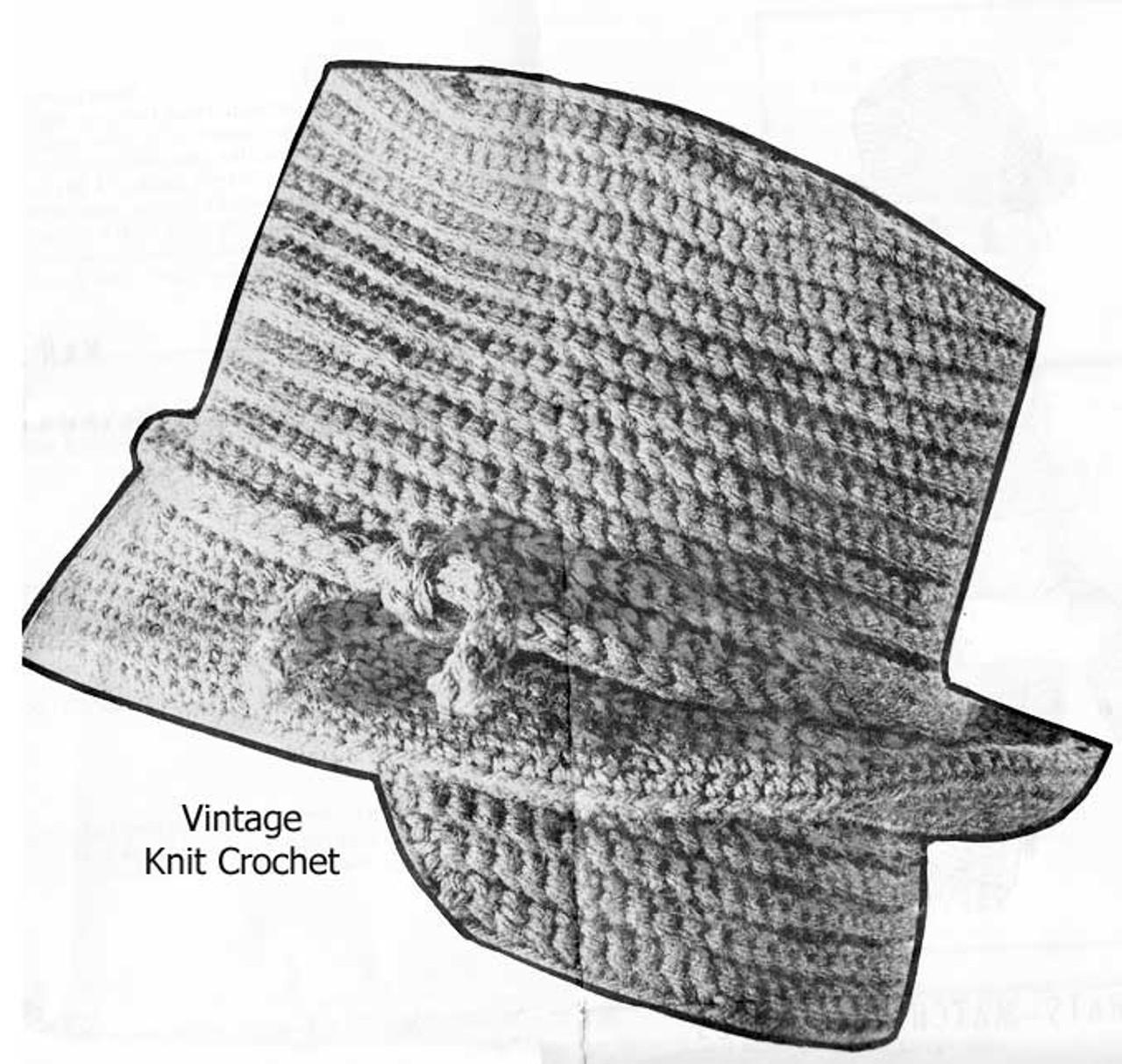 Boys Fedora Crochet Hat Pattern Detail, Alice Brooks 7504