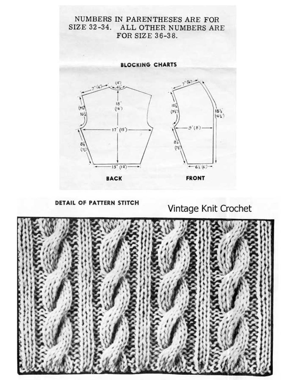 Cable Jerkin Pattern Illustration, Laura Wheeler