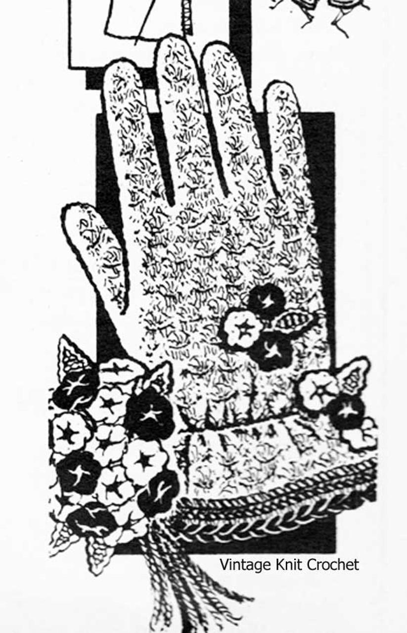 Girls Crochet Gloves Pattern, Elastic at Wrists, Laura Wheeler 745
