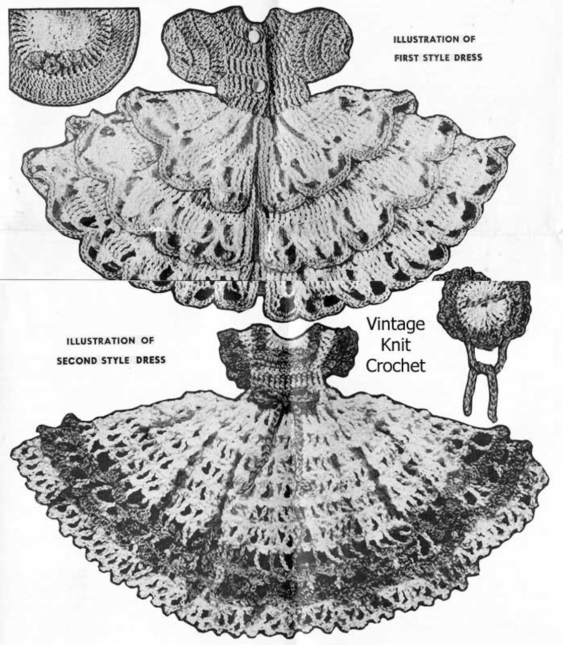 8 inch doll crochet dresses pattern, Laura wheeler 856