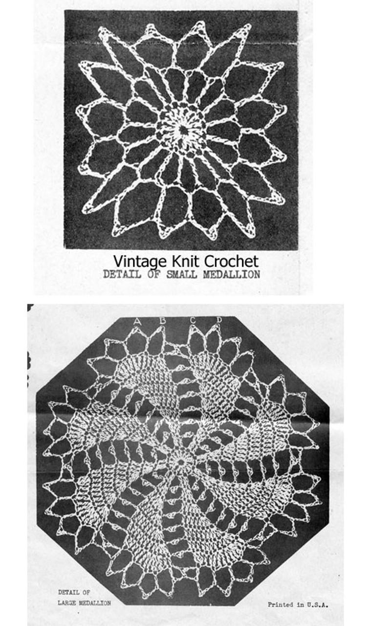 Pinwheel Crochet Medallion Pattern Illustration, Alice Brooks 7707