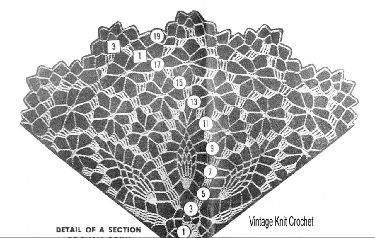 Small Pineapple Doily Pattern Illustration, Design 7165