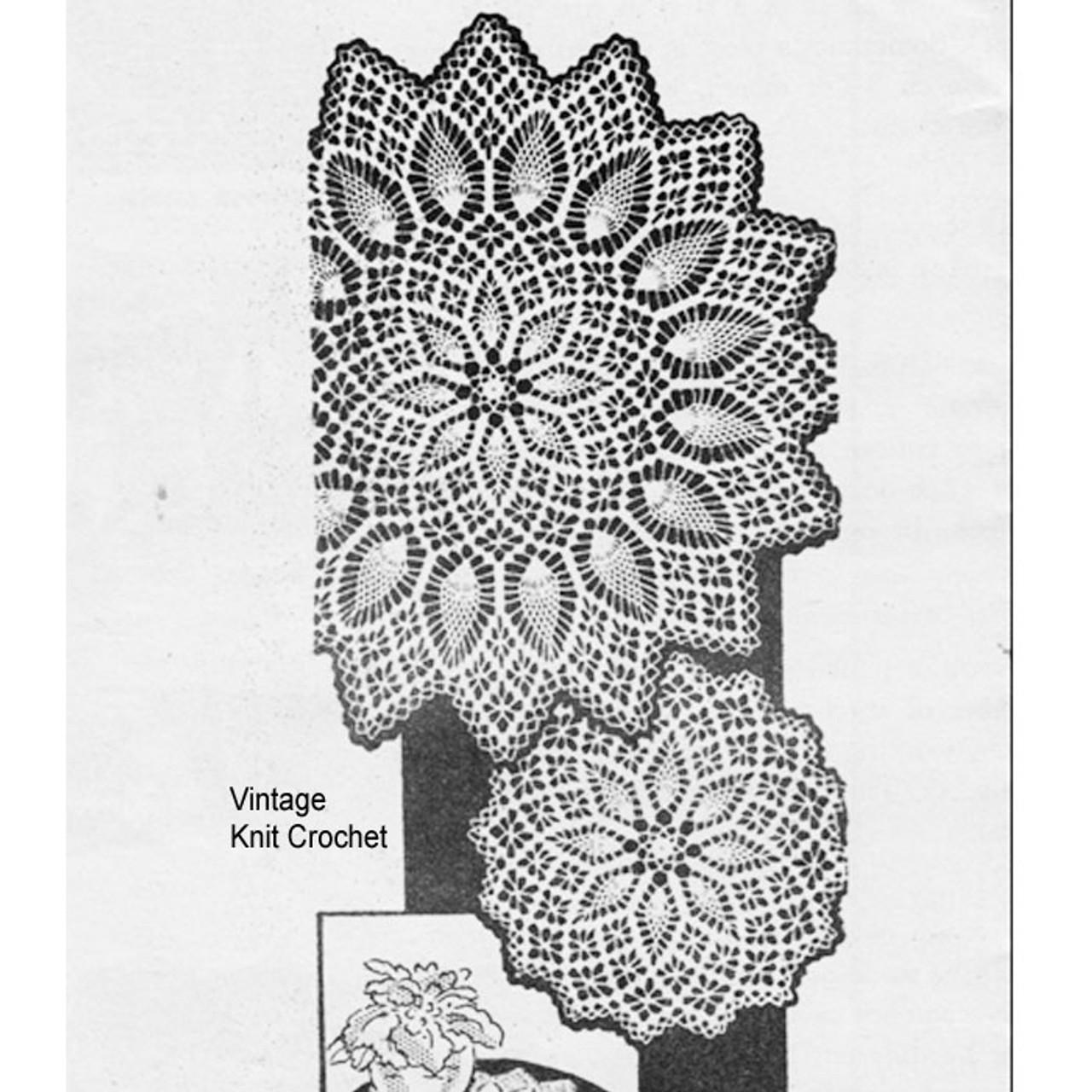 Vintage Spiderweb Crochet Doily Pattern, Alice Brooks 7165
