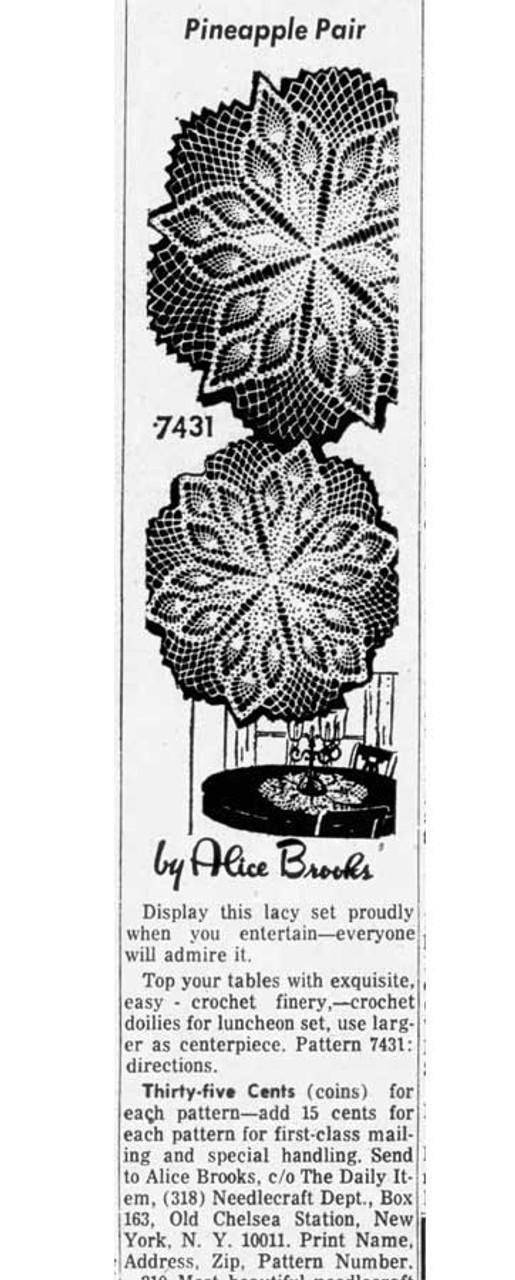 Pineapple Star Crochet Doily Design 7431