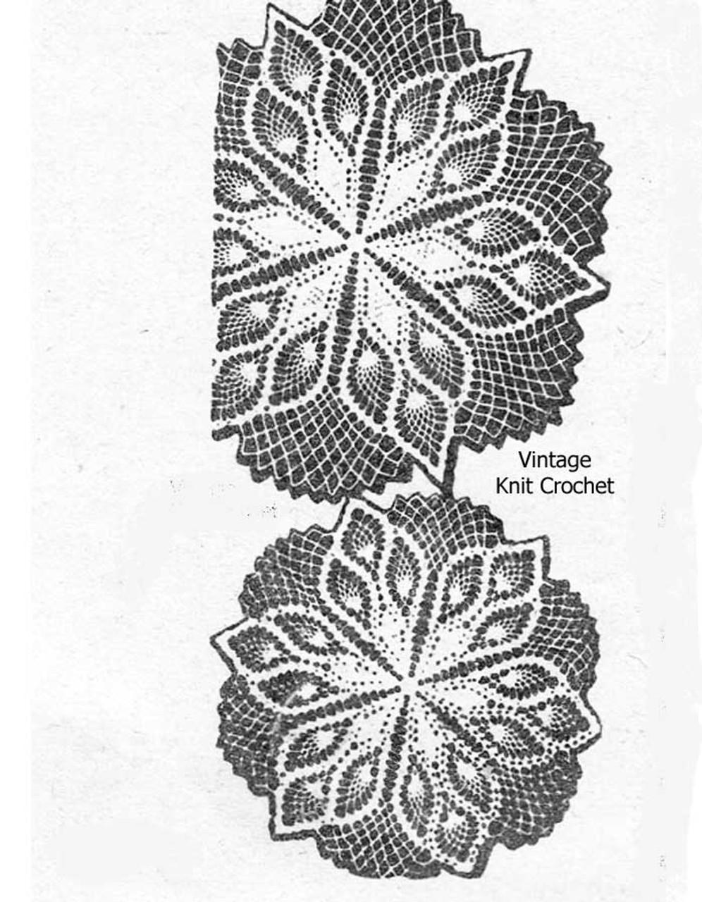 Vintage Alice Brooks Crochet Doily Pattern No 7431