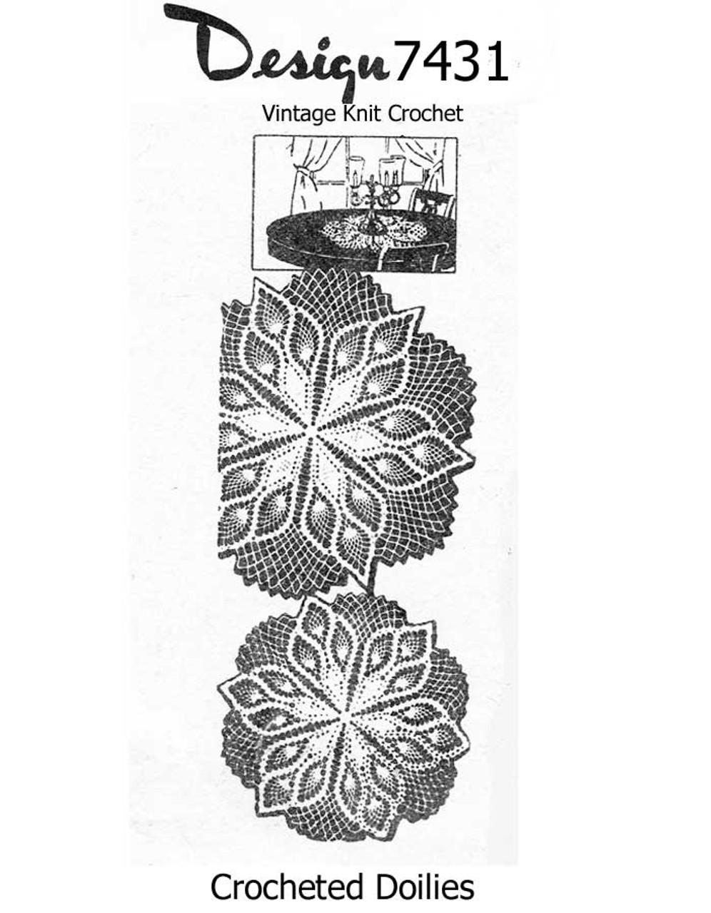 Pineapple Star Crochet Doilies Pattern Design 7431