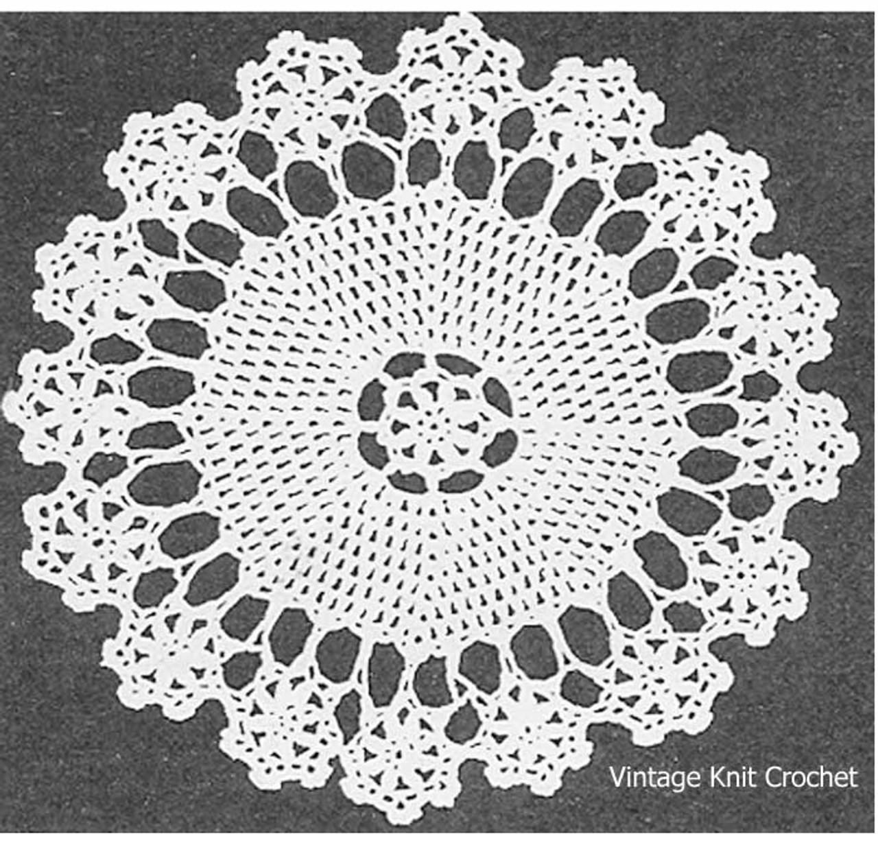Free Crochet Doily Pattern, Flower Border