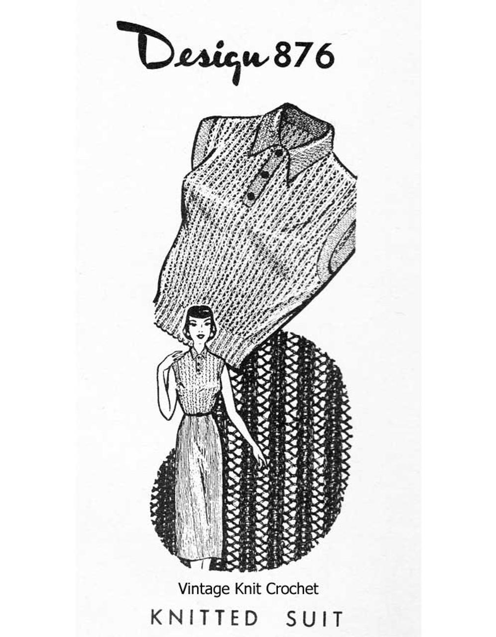 Easy Knit Dress Pattern, Laura Wheeler Design 876