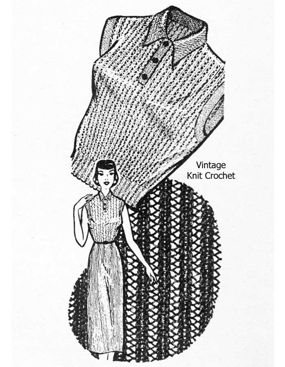 Two Piece knitted suit pattern Design 876