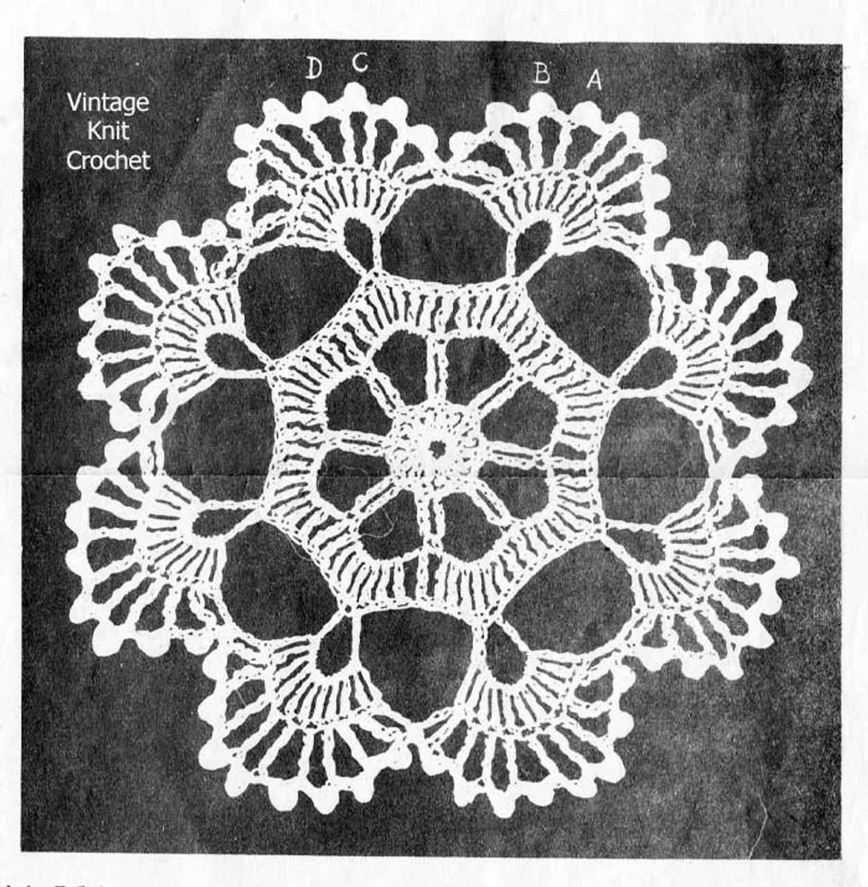 Alice Brooks Peacock Plumes Crochet Medallion Illustration