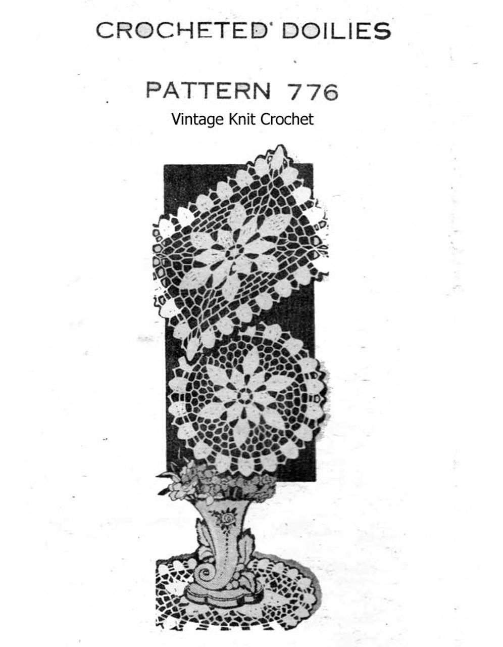 Crochet Doilies Pattern Round Square Design 776