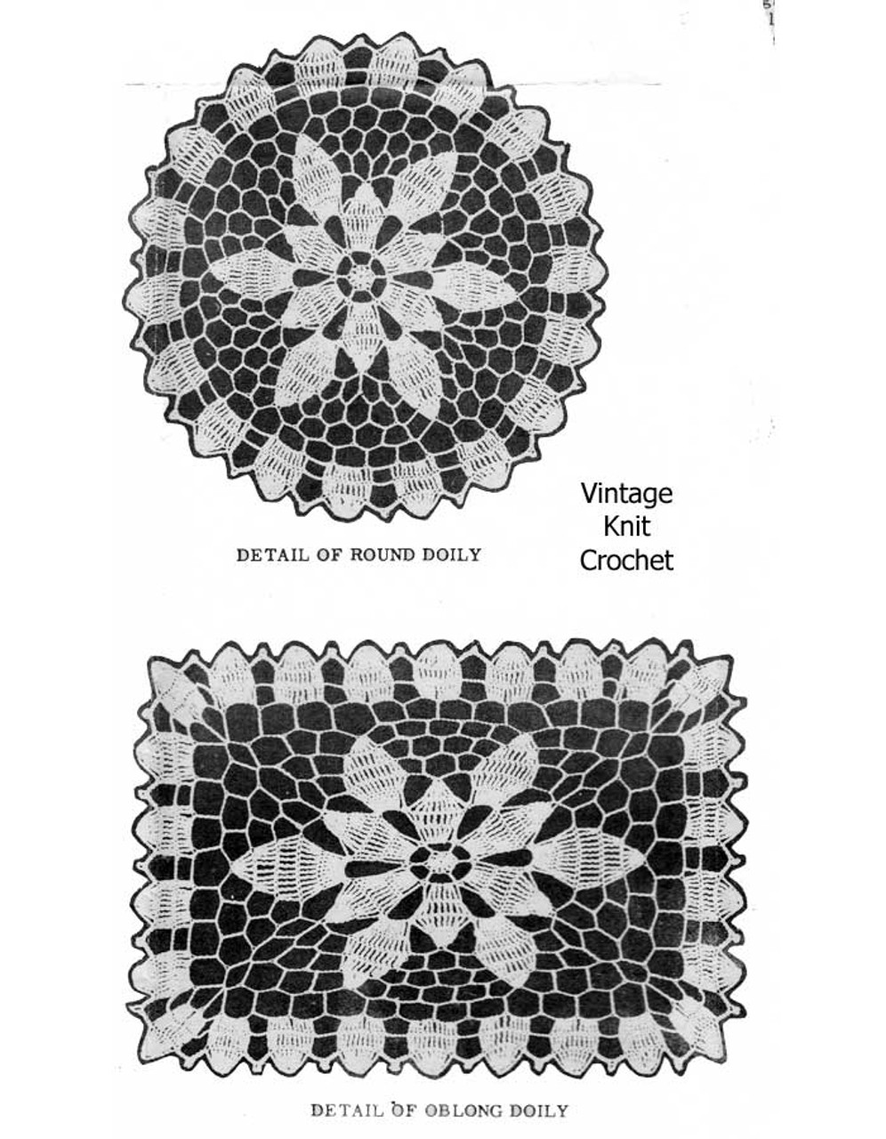 Round Square Doily Pattern Illustration, Laura wheeler 776