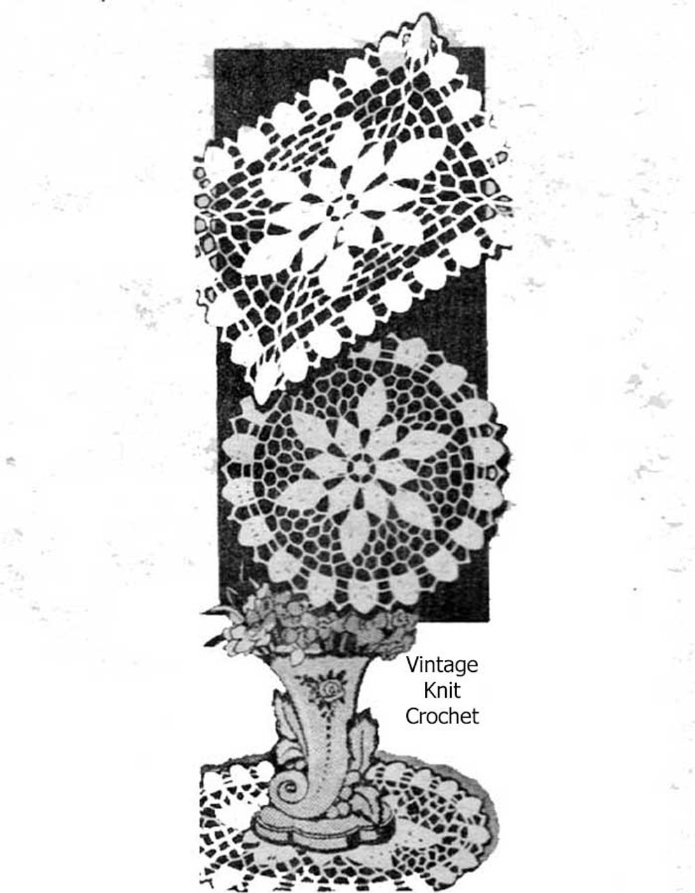 Small crocheted doilies pattern, round oblong, Mail Order Design 776