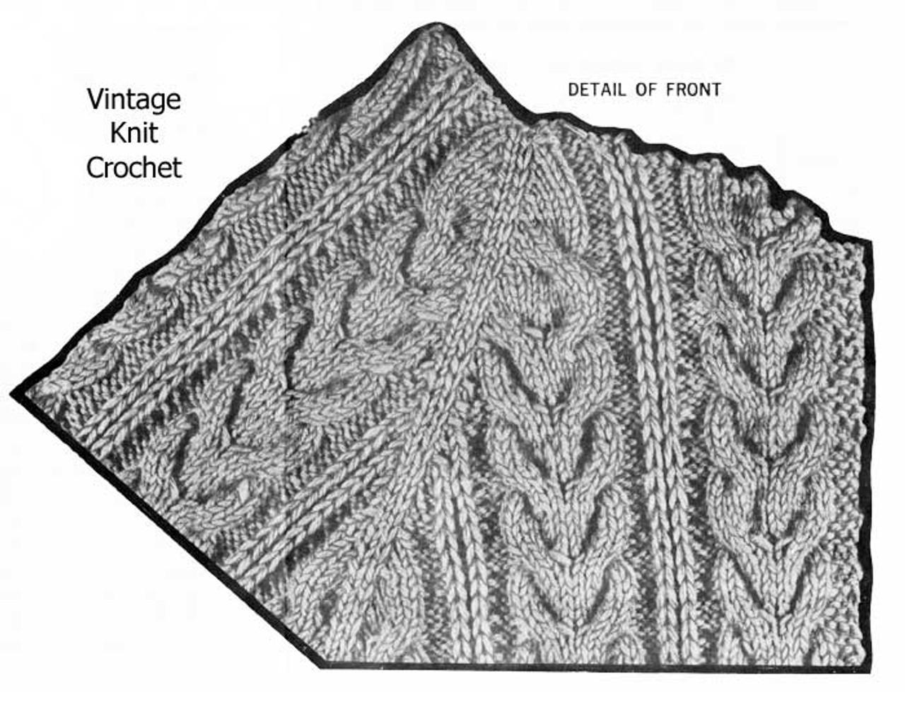 Cable Jacket Pattern Stitch Illustration, Mail Order Design 700