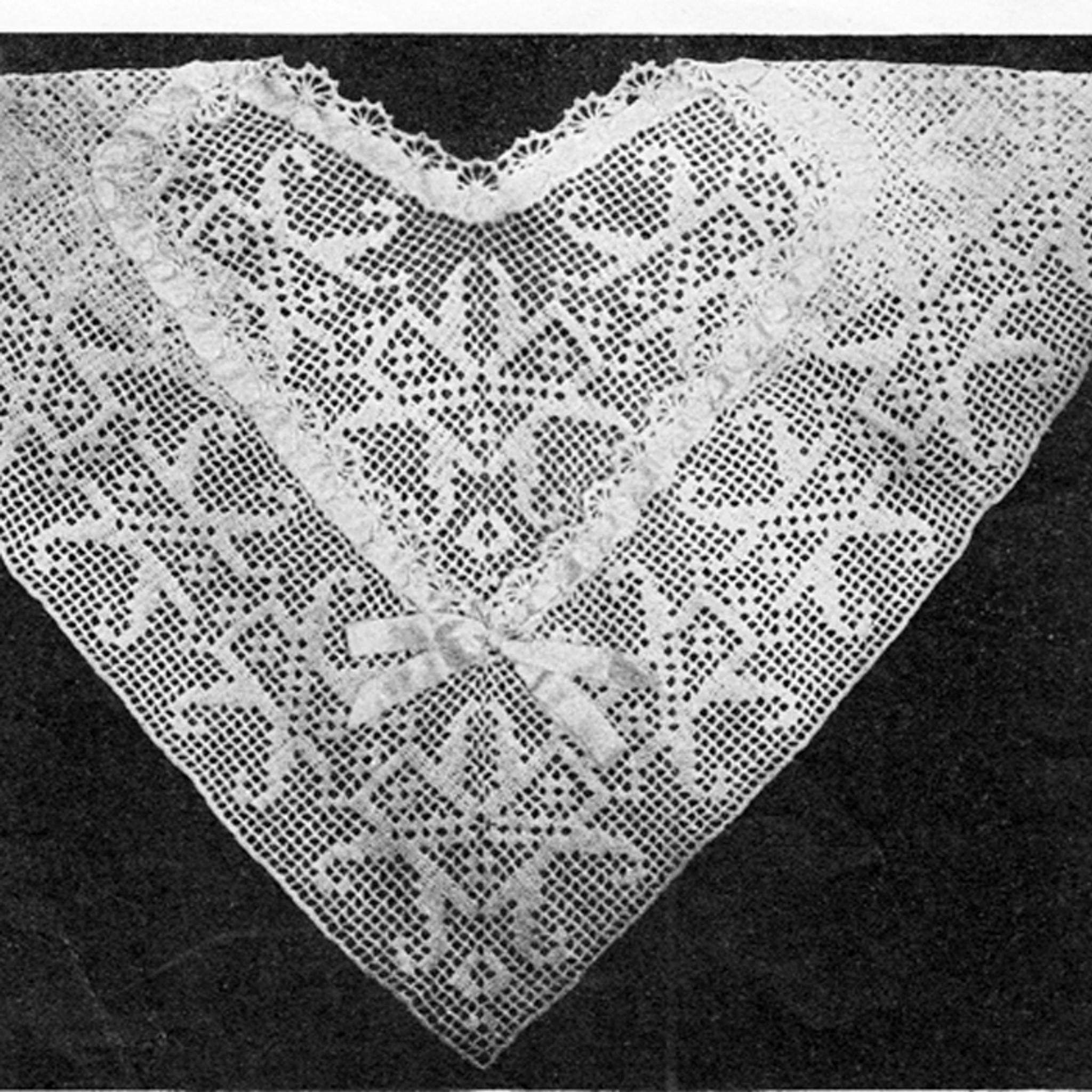 Filet Crochet Square Yoke Collar Pattern Vintage 1920s