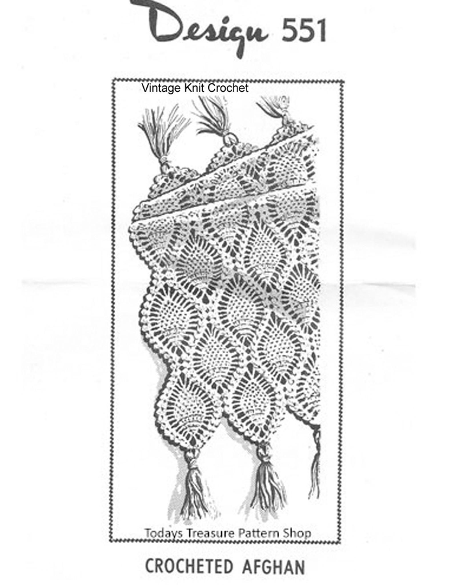 Crocheted Pineapple Afghan Pattern Laura Wheeler 551 Mail Ordder
