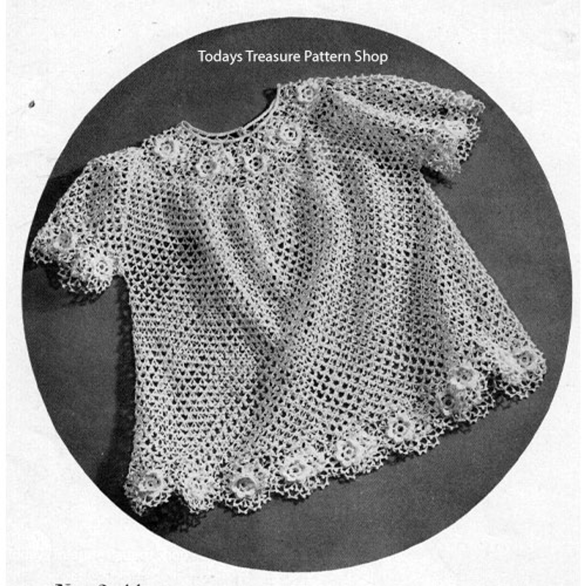 Vintage Irish Lace Crochet Baby Dress Pattern