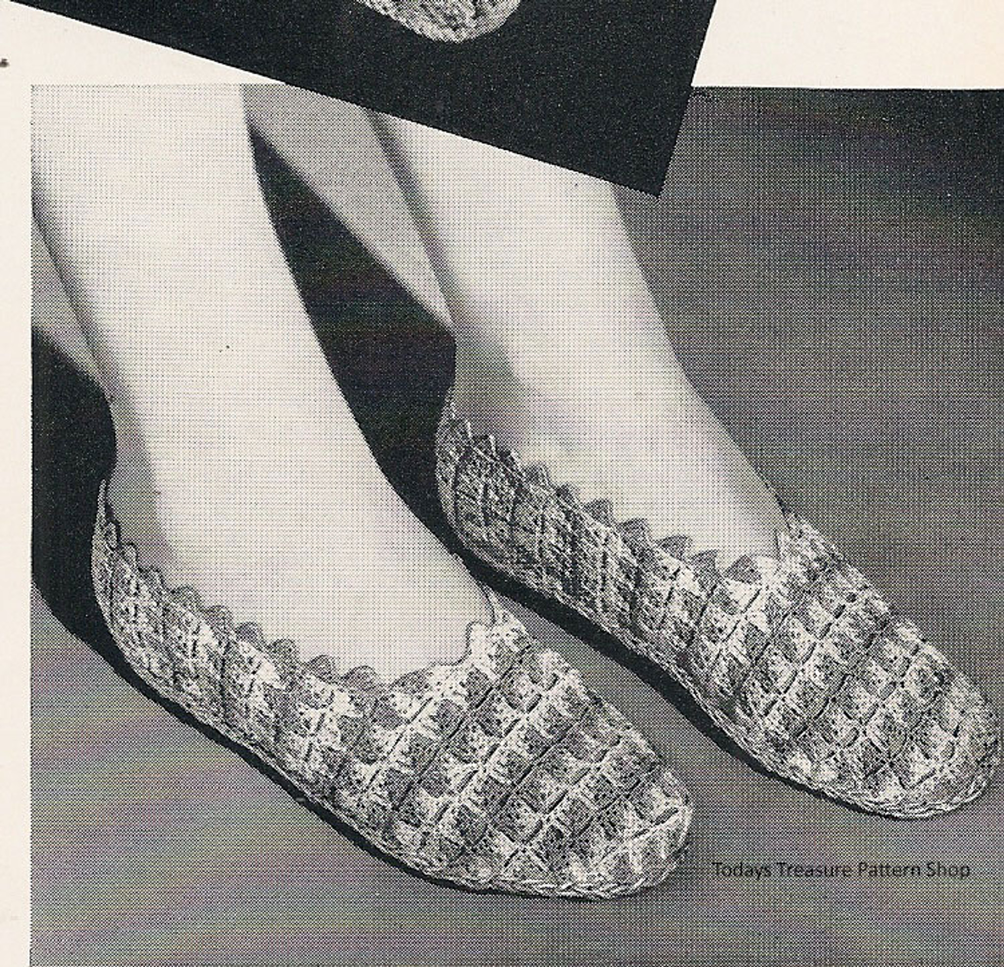 Crochet Slippers Pattern Shell Stitch Scallop Edges
