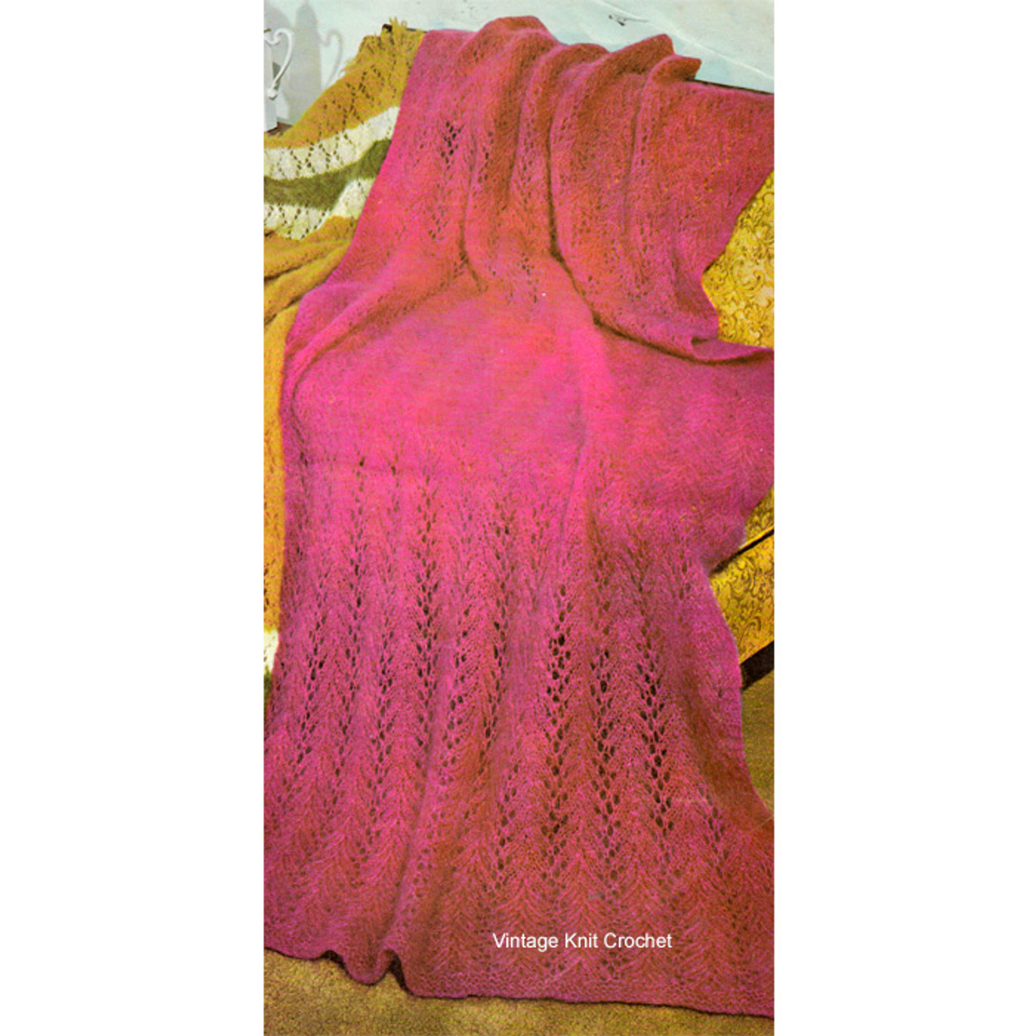 Free Knitted Mohair Cvpattern No 8522