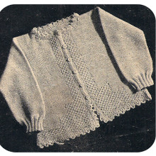 Baby Knitted Cardigan Pattern Vintage Workbasket