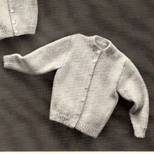 Vintage Knitting Pattern for Childs Cardigan